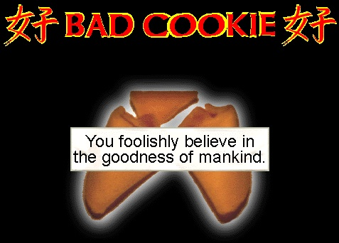 bad cookie fortune