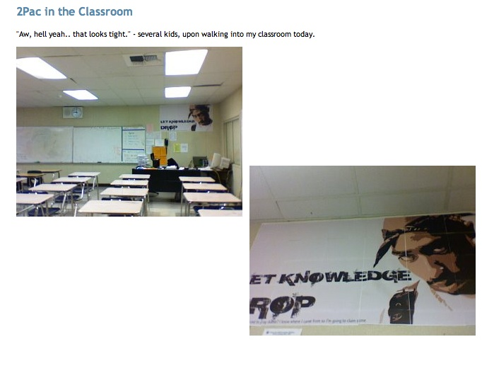 2Pac in the classroom
