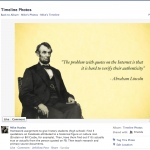 Lincoln fake quote picture from FB