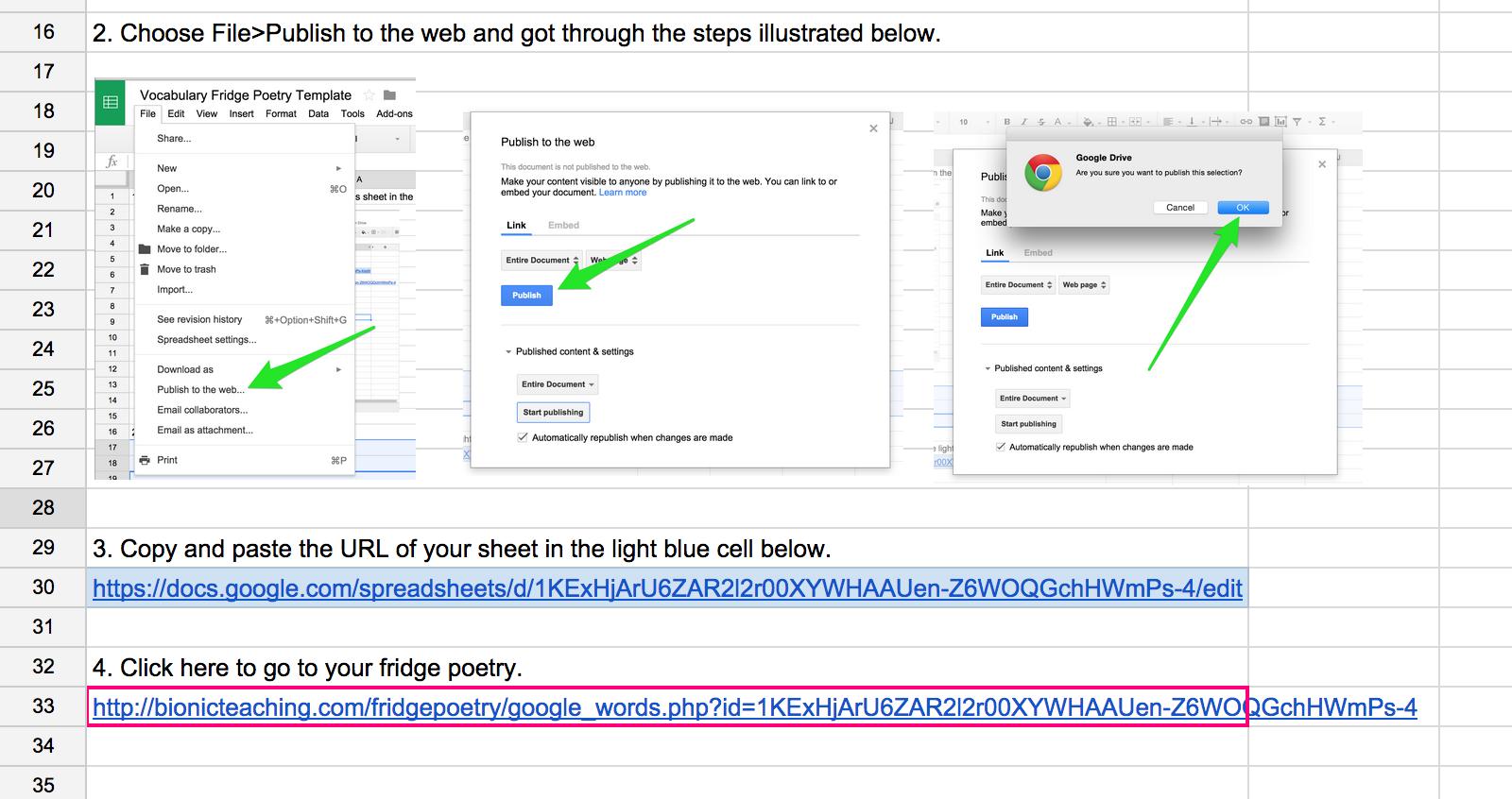 Fridge Poetry – Google Sheets as Database – Bionic Teaching