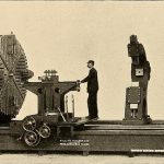 Giant machine with small man