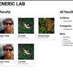 View of the faculty page using the shortcode.